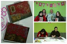 """Buenas tardes Scraper@s!!!  Os enseño como fue el taller """"Libreta Vintage"""" del Viernes, un taller de absorcion de conocimientos!!! Y ademas el resultado es brillante!! Enhorabuena chicas os ha quedado chulisimo!!! Gracias por venir!! #scrapshu #scrapbooking #scrapbook #scrap #talleresquemolan #tallerscrapbook"""