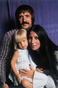 Sonny & Cher & their daughter Chastity 1971