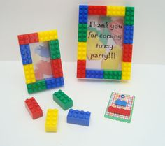 Lego themed birthday party favor treat bags set of 30 by miamimere, $160.00