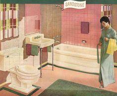 pink baths were popular in the 50's thanks to Mamie Eisenhower