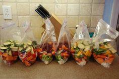 zelfgekweekte groenten invriezen