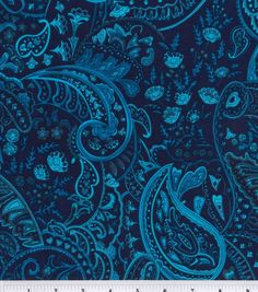 Polyester fabric, flaunts a mesmerizing paisley design in vibrant shades of blue that enhances its visual appeal. Shop at JOANN to shop quilting fabrics. Quilting Thread, Machine Quilting, Paisley Design, Paisley Pattern, Textiles, Joann Fabrics, Color Stories, Fabric Online, Shades Of Blue