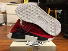 For Sale: Adidas HU NMD PW Pharell Williams Human Race Red. All of products are authentic ! Adidas Nmd, Adidas Sneakers, Racing, Red, Ebay, Running, Auto Racing, Adidas Shoes