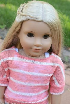 Sew a Little Sweater for the Fall (Using the Banded Dolman Shirt Pattern!) - Doll It Up