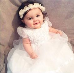 Newborn Girl Dresses, Girls Dresses, Flower Girl Dresses, Beautiful Baby Girl, Beautiful Children, Gypsy Look, Cute Baby Girl Pictures, Baby Photos, Cute Baby Clothes