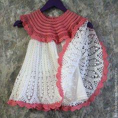 Crochet Toddler Dress, Baby Girl Crochet, Crochet Baby Clothes, Crochet For Kids, Moda Crochet, Crochet Stitches, Knit Crochet, Crochet Hippo, Beautiful Crochet