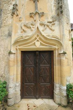 French castle door...