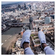 """Casually hanging out of a helicopter this morning over London! Happy #airmaxday! Thanks for having me @nikesportswear!  (these are the Thea's)"" Photo taken by @thebeautycrush on Instagram, pinned via the InstaPin iOS App! http://www.instapinapp.com (03/26/2015)"
