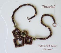 Beadwoven necklace DISCOVERY PeyoteBeadArt on Etsy