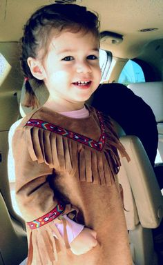 Toddler Native American Indian Costume Size 2 by kutekidskreations