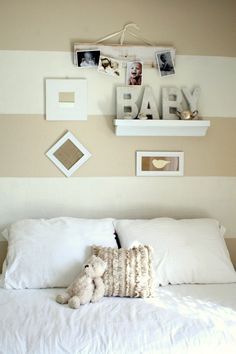 I like the shelf and pictures above the bed...
