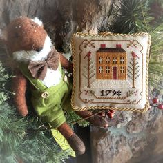 """Diane on Instagram: """"From the 2015 ornament series, this is """"Olde Colonial."""" (Not just for trees 😉) #littlehouseneedleworks #lhn #crossstitch"""" Little House Needleworks, Crossstitch, Colonial, Trees, Christmas Ornaments, Holiday Decor, Instagram, Cross Stitch, Punto De Cruz"""