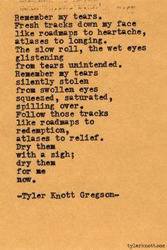 Typewriter Series #393 by Tyler Knott Gregson