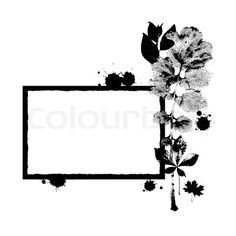 Vector of 'A blank frame in black and white colours'