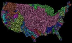 The veins of America: Stunning map shows every river basin in the US    Read more: http://www.dailymail.co.uk/sciencetech/article-3860062/The-veins-America-Stunning-map-shows-river-basin-US.html#ixzz4NnWh8eID  Follow us: @MailOnline on Twitter | DailyMail on Facebook