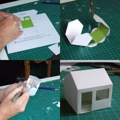 Paper House Template  ☀CQ #paper #printables #templates #crafts #DIY