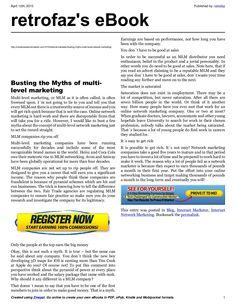 busting-the-mythsofmultilevelnetworkmarketing by retrofaz via Slideshare