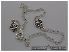 Sterling Silver Sugar Skull Bracelet by BoneyardJewellery on Etsy