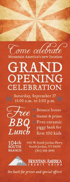 Grand Opening Invitation by Diana Merrill, via Behance