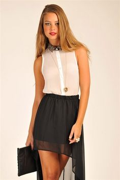 Lianna Collared Top - Ivory from Necessary Clothing