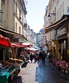 Rue Mouffetard market & other markets of Paris: find addresses, dates, times, here: http://paris.angloinfo.com/information/lifestyle/shopping/markets/
