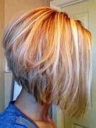 Angled Bob Hairstyles For Fine Hair Images & Pictures Short Haircut Thick Hair, Bob Haircut For Fine Hair, Line Bob Haircut, Wavy Hair, Thin Hair, Straight Hair, High Low Haircut, Reverse Bob Haircut, Hair Styls