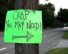 great yard sale sign