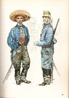 Mexican Adventure; Juarista Infantry Officer & Dragoon