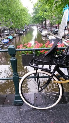 canals and bicycles in amsterdam