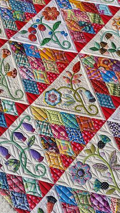 Sweet Surrender by Beth,  quilted by Judi Madsen @ Green Fairy Quilts