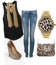 """Classy Leopard"" by gowickless on Polyvore"