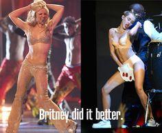 Dear Miley, Britney did it better.