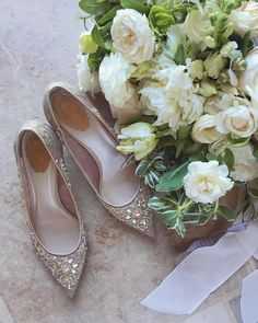 Brie wore these @renecaovilla shoes and held this @amyosabaevents pretty bouquet. #sunstonevilla #sunstonewedding #iphonepic via @angela4design