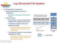 Described in a paper by Mendel Rosenblum and John K. Ousterhout for log file system and about basic principles.