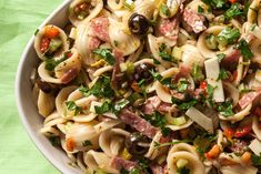 A pasta salad recipe with the flavors of a New Orleans muffaletta. --- used cheese tortellini for the pasta