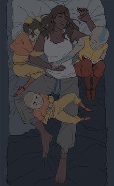 The kids comforting Korra - so sweet!