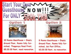 Guesthouse for sale Pattaya: Take over business, open up your own guesthouse in Pattaya for only 500,000.00 THB, 2 options both in top locations, Cal for information 0800176100 or look here: http://www.hotelsforsalethailand.net/open-guesthouse-500000-00-thb/
