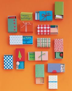 Making a batch of holiday presents for class? You can make these teeny-tiny boxes (don't worry, they are pretty simple) for your kids to fill with small treats, holiday notes, candies, or trinkets for friends, classmates, and teachers.