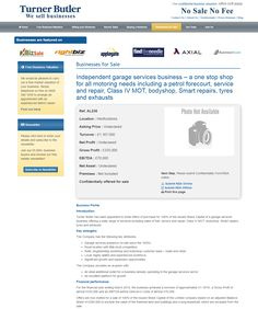 Business for sale Independent garage services business – a one stop shop for all motoring needs including a petrol forecourt, service and repair, Class IV MOT, bodyshop, Smart repairs, tyres and exhausts Ref. AL236 Location Hertfordshire Asking Price Undeclared RupertCattell TurnerButler we sell business Rupert Cattell Businesses for sale Turner Butler Testimonial Successful Business Broker #Businesstransferagent #Sell your Business # New business opportunity #Business details updated