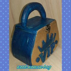 wood woman bag