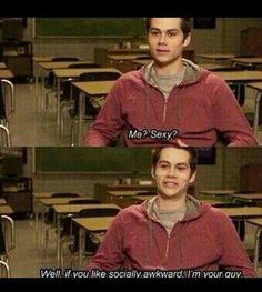 Dylan OBrien explaining my life only from a different perspective