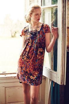 love the fabric, not the dress itself!   Pintura Silk Shift - anthropologie.com
