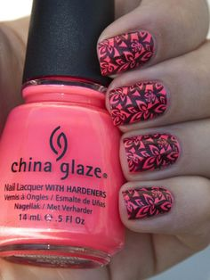 Nail stamping with Bundle Monster plates