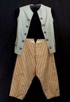 French boy's silk waistcoat and breeches, c.1800-1820.  Gavroche in '32