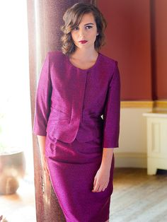 This short eye-catching Ava jacket from Aideen Bodkin has been beautifully designed in a hot pink/purple shade of colour. Product code 5064.  View more occasion wear items from our Aideen Bodkin collection at: http://www.baroqueboutique.co.uk/occasion-wear/  Photographs courtesy of: http://www.aideenbodkin.com/