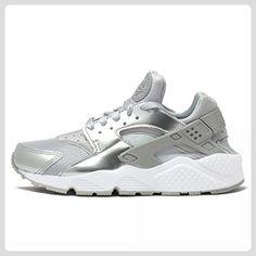 nike air huarache damen sneaker silber-metallic weiß