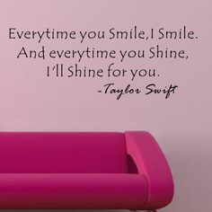 I'll Shine for You - Taylor Swift Wall Decal