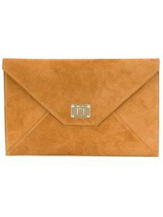 JIMMY CHOO 'Rosetta' Clutch. #jimmychoo #bags #clutch #suede #hand bags