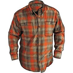 Men's Duluth Trading Free Swingin' Flannel Shirt is 100% cotton double-brushed for softness and has armpit Gussets to let you reach!