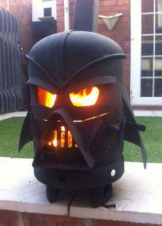 Vader Outdoor Fireplace #starwars #darthvader #kickass